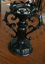 Bath & Body Works Candelabra Candle Holder Halloween Black Shiny