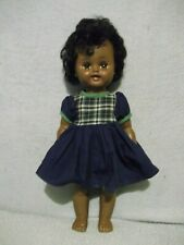 """Pretty 14"""" Reliable Canada African American doll open/close eyes dress fits"""