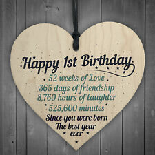1st First Birthday Baby Daughter Son Grandson Grandaughter Nephew Niece Gifts