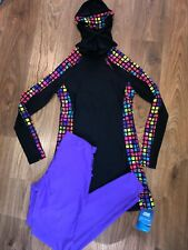 Zoggs Womens Quad Modesty Suit Burkini Swimming Suit Size 10 Rainbow RRP £100