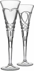 Shannon by Godinger Two Hearts Champagne Flutes - Wedding Toast Flutes