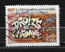 FRANCE oblitéré 2000 Droits de l'homme Y&T N° 3354