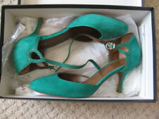 Hobbs Emerald Green Suede Court Shoes 37