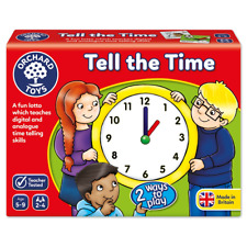 Orchard Toys Tell The Time, Analogue and Digital Educational Childrens Game, 5-9