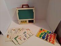 Vintage Fisher Price School Days Desk Portable Play