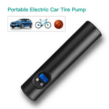 Mini 60W Electric Car Tire Air Pump Inflator 6000mAh Black For Bicycle Ball Bike