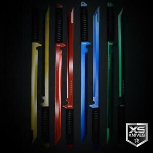 "2pc SET Epic Colors 26"" LASER TANTO Sword Machete Ninja Full Tang Fixed+ SHEATHS"