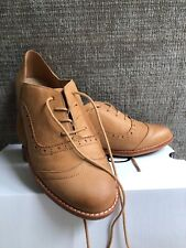 """NWTs & BOXED ALDO Women's """"Josephine"""" Lace-Up Flat Wing Tip - Suede- Brown- SZ 9"""