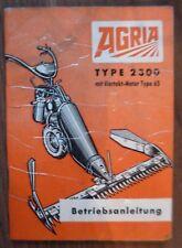 Agria Einachser / Motormäher 2300 Betriebsanleitung