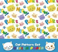 Cat/'s Mood Words Washi Stickers 6 sheets ST354