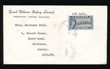 BAHAMAS 1961 BAKERY PRINTED ENVELOPE to HINDHEAD ENGLAND