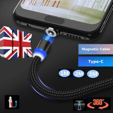 UK Strong Magnet Charger Cable Type-C 3~10M 2A Nylon Cable For Samsung Galaxy S9