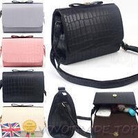 Fashion Women Cross Body Shoulder Bag Checked Tote Messenger PU Leather Handbag