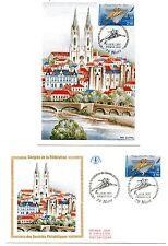 """FRANCE """" L'Europe d'art  """". Carte et envelopp  e 1er jour"""