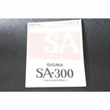 Sigma SA-300 Operating Manual / Handbook / Instruction Book / Anleitung ENGLISCH
