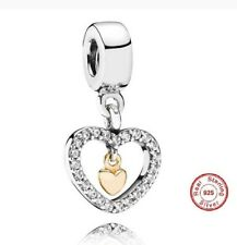 PANDORA Forever In My Heart Charm 791421CZ 14ct Gold Heart New Authentic GENUINE