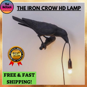 Crow Bird LED Table Lamp For Bedroom & Living Room Wall Night Light With PLUG IN