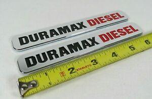 CHEVY GMC DURAMAX DIESEL EMBLEMS FRONT DOOR BADGES silverado colorado sign logo
