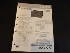 Original Service Manual Sony DXA-D50