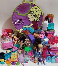 Polly Pocket, Mattel, & Other, Furniture, 13 Dolls, Car, Case & More