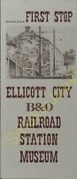 Vintage Train Brochure First Stop Ellicott City B & O Railroad Station Museum