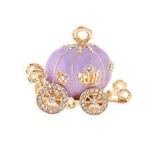 Pumpkin Carriage Charm DIY Key Ring Exquisite Bracelet Purse Pendant Purple