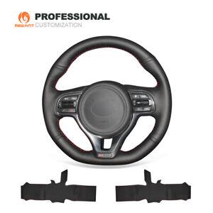 Genuine Leather Steering Wheel Cover for Kia K5 Optima Sportage KX5 2016-2019