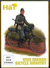 HaT Miniatures 1/72 GERMAN WORLD WAR II BICYCLE INFANTRY Figure Set