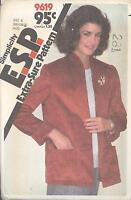 Simplicity 9619 Misses' Unlined Jacket   Sewing Pattern