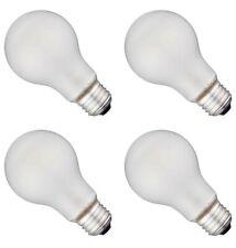 100 Watt Incandescent Light Bulbs Heavy Duty Frosted Household - 4 Bulbs