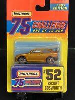 ESCORT COSWORTH MATCHBOX 1997 GOLD 75 CHALLENGE #52 LIMITED EDT 1/10000