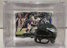 Darren Sproles Philadelphia Eagles Mini Helmet Card Display Case Shadowbox Auto