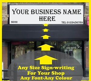 4000mm L Front Shop Sign-writing Lettering Self Adhesive Vinyl Fascia Sticker
