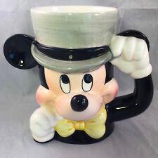 """Mickey Mouse Ceramic Mug Vintage Walt Disney 5.5"""" Tall Nice Korea"""