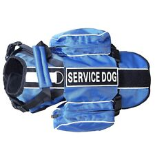 Latest Service Dogs Backpack Harness vest Removable Saddle Bags with Patches