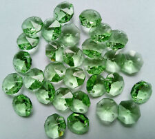 20PCS 14mm green Crystal Octagonal beads Decoration DIY Jewelry Accessorie