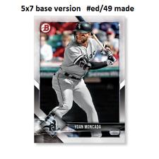 YOAN MONCADA White Sox #19  -  5x7 Base Version #ed/49 made 2018 Topps Bowman