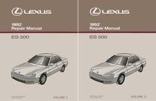 1992 Lexus ES 300 Shop Service Repair Manual Book Engine Drivetrain OEM