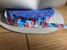 1M 5/8 Disney Shimmer And Shine Fold Over Elastic Ribbon Hairband Bracelet Hen