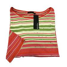 ELENA MIRÒ maglia donna righe 94% viscosa 6% elastan con applicazioni