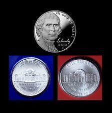 2012 P+D+S Jefferson Nickel Set ~ Proof & PD in Original Mint Wrappers