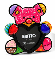 ROMERO BRITTO FRAME HEART DESIGN - FUN BEAR ** NEW ** GIFT BOX