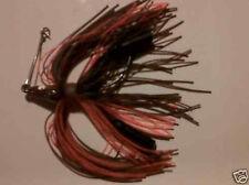 New listing 3 brown orange standup 1/4 oz 4/0 plastic locker weedless bass Jigs Free Ship