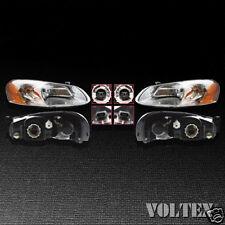 2003-2004 Chrysler Sebring Dodge Stratus Headlight Lamp Clear lens Halogen Pair