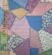 Cheater Quilt cotton fabric Pastel patchwork Cranston shabby calico BTHY 1/2