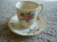 DEMITASSE CUP & SAUCER/SYRACUSE CHINA/FEDERAL SHAPE