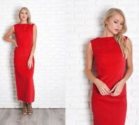 8b460e4d15a Vintage 60s 70s Red Velvet Dress Maxi Cocktail Party Sleeveless Small S
