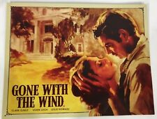 """Gone With The Wind Tin Sign 16"""" by 12.5"""" Vintage Hollywood Metal #1559"""