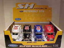 4 Pack of Peterbilt 379 Semi Tractor Rig Truck Diecast 1:32 Welly 12 inch