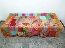 patchwork Kantha Quilt Reversible Indian Cotton Bedspread Bohemian Bedding  PB05